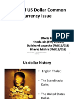 Euro and US Dollar Common Currency Issue