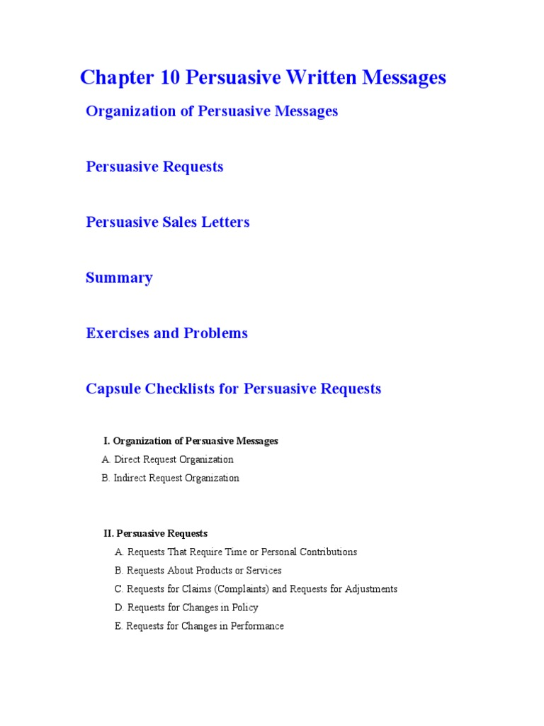 Chapter 10 persuasive written messages persuasion sales spiritdancerdesigns Images