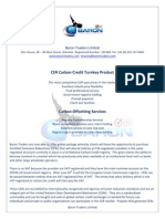 CER Carbon Marketing Opportunity For Companies and Brokers