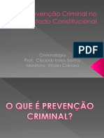 Criminologia - prevenção criminal