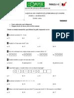 Comper Matematica Clasa II Varianta2