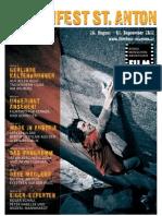 18. Filmfest St. Anton Programmzeitschrift
