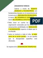 FUNDAMENTOS TEÓRICOS DE LA ESTIMULACIÓN TEMPRANA
