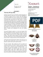 Ceramics Are The Focus For Chorley's 28 June Sale