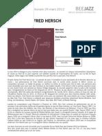 """Communiqué de presse de """" Da Vinci """" de Fred Hersch et Nico Gori"""