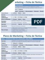 Plano de Marketing - Fichas de Táctica