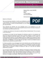 Courrier Reponse ADSE