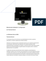 67781677 Manual Para Instalacao e Configuracao Do Terminal Server