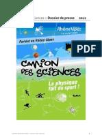 Dossier de Presse Camion Des Sciences 2012