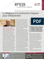 La Belgique à la recherche d'espace pour entreprendre, Infor FEB 20, 14 juin 2012