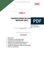 Tema 3. Transistores de Union Bipolar Bjt
