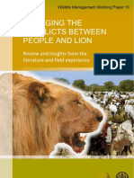 Managing Conflicts People and Lions