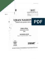 Soal UN Sosiologi Tipe D32 Tahun 2012