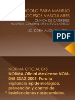 1-Presentacion-protocolo Para Manejo de Accesos Vasculares
