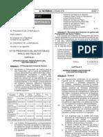 Ley28927 - ppto 2007