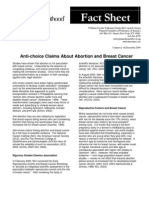 Anti-choice Claims About Abortion and Breast Cancer