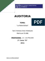 Auditoria - Materialidad