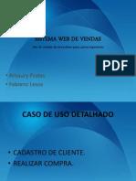 Sistema Web de Vendas Analise 2