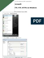 Servidor Web HTTP, FTP, HTTPs en Windows Server 2008 - Tecnologías Microsoft