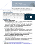 Policy Update the Budget Control Act of 2011