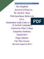 Megilloth in E-Prime With Interlinear Hebrew in I.P. A. 6-13-2012
