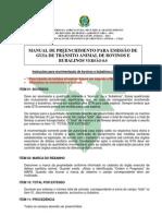 3.Modelo de GTA Para Bovinos ou Bubalinos Valido em todo território nacional na ultima Página do documento