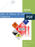 Plan de Manejo de Sustancias Peligrosas Version 10-12-2010