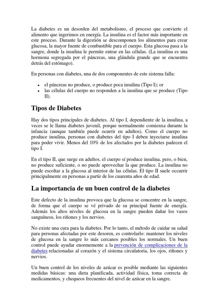insulina glucosa modelo diabetes cura