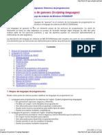 Lenguajes de Guiones (Scripting Languages)
