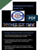 Houston Police Department Mental Health Unit