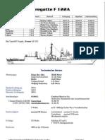 Datenblatt Fregatte F122A