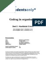 Gedrag in Organisaties Druk 5 9789001766672 Deel2 H5 H8