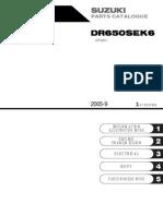 Catalogo de Partes Suzuki DR650 (2006) Ingles