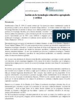 El concepto de mediación en la tecnología educativa apropiada y crítica _ Debates _ Educación y TIC _ educ