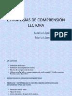 ESTRATEGIAS DE COMPRENSIÓN LECTORA