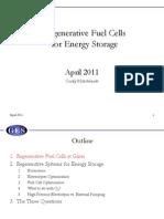 Regenerative Fuel Cells for Energy Storage