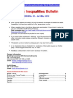 Health Inequalities Bulletin no. 32 April-May 2012