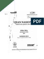 Soal UN Sosiologi Tipe C29 Tahun 2012