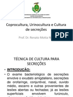 Aula coprocultura, urinocultura e cultura de secreções