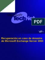 Recuperacion de Desastres de Exchange 2003