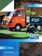 Úžitkový automobil rady Piaggio Porter katalóg anglická verzia