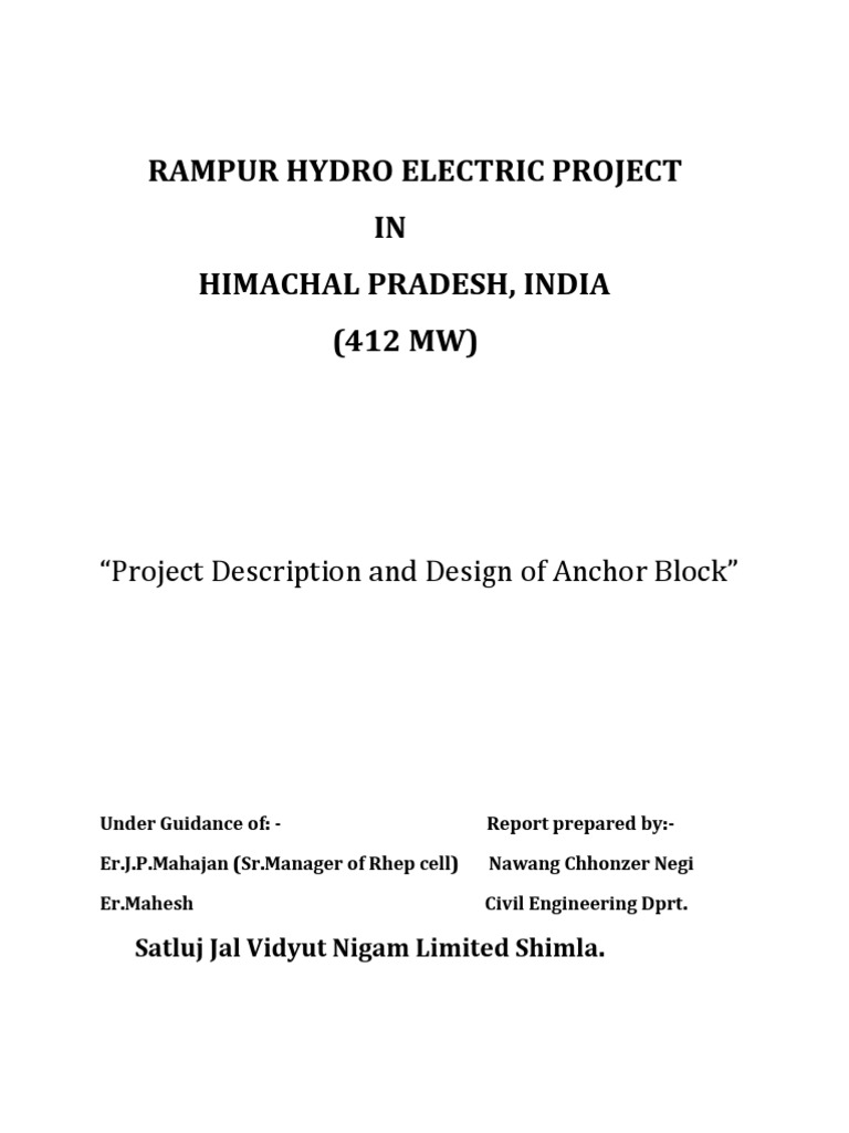 rampur hydropower project
