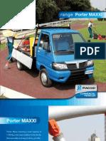 Úžitkový automobil rady Piaggio Porter Maxxi katalóg anglická verzia
