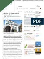 Hermès - La guerre avec LVMH - Itw de Bertrand Puech et Julie Guerrand est finie 111219