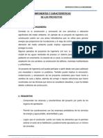 COMPONENTES Y CARACTERÍSTICAS DE LOS PROYECTOS