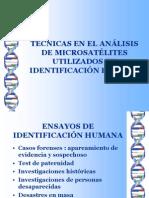 Tecnicas en el analisis de microsatelites utilizados en identificación humana