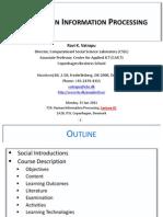 2011 Spring HIP Lecture01 CourseIntro