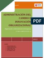Informe Cambio Organizacional e Innovación