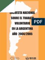 Encuesta Nacional Sobre El Trabajo Voluntario en La Argentin
