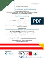 Österreichs Investitionen in Bosnien-Herzegowina